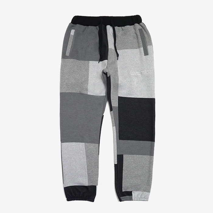 아임낫어휴먼비잉 Patch Work Sweat Pant // Achromatic Color