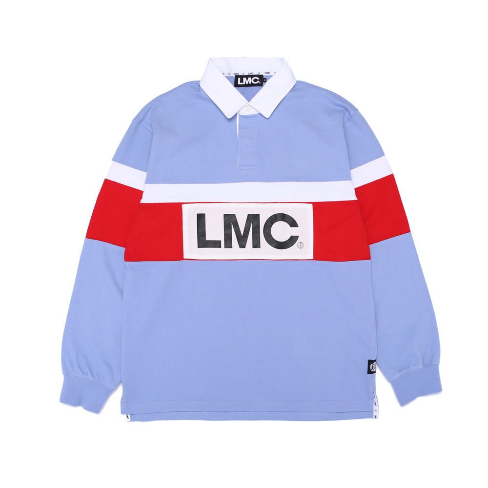 엘엠씨 RETRO RUGBY TEAM V LSV TEE / powder blue (재입고)