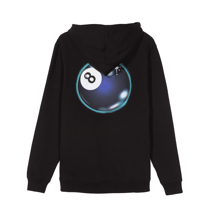 스투시 후드티 MYSTIC 8 BALL HOOD/BLACK