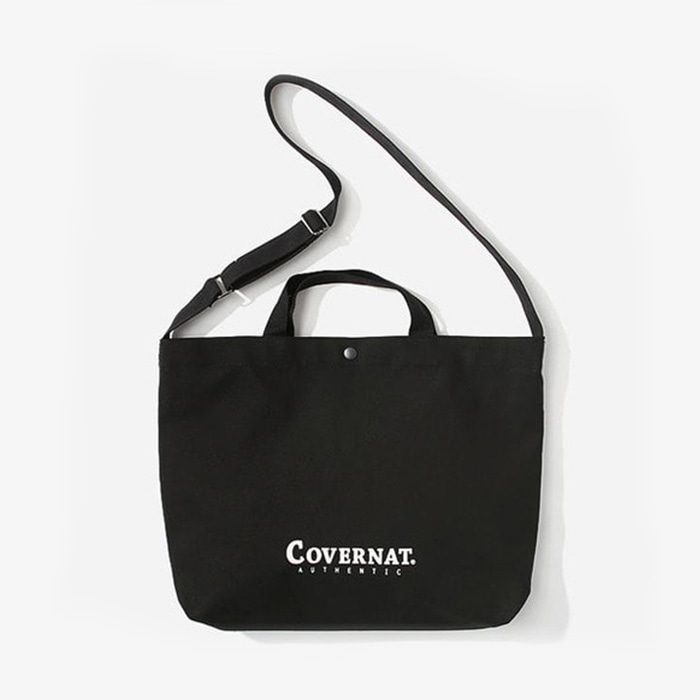 커버낫 AUTHENTIC LOGO 2WAY BAG BLACK
