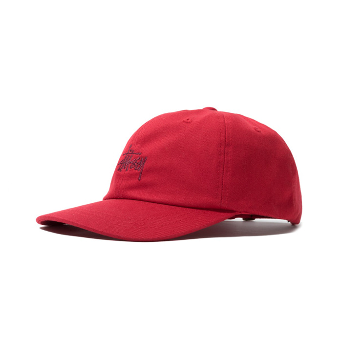 스투시 HO18 STOCK LOW PRO CAP/RED
