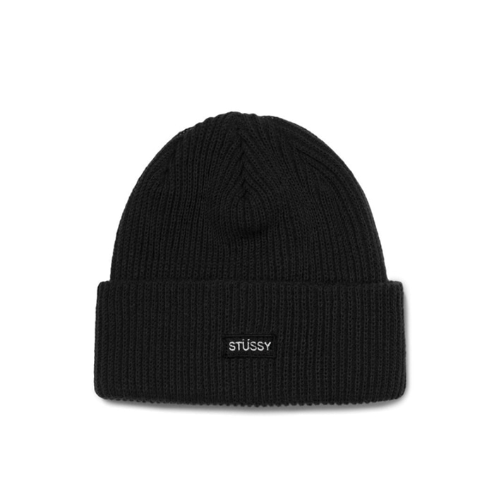 스투시 비니 HO18 SMALL PATCH WATCH CAP BEANIE/BLACK