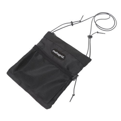 마하그리드 REFLECTIVE LOGO SACOCHE BAG/BLACK