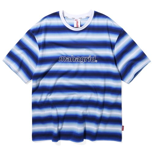 마하그리드 티셔츠 GRADATION STRIPE TEE [BLUE]