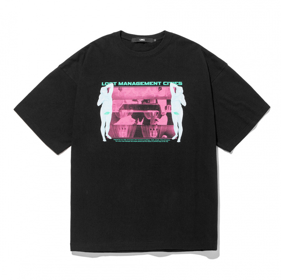엘엠씨 티셔츠 LMC COMMUNICATION OVERSIZED TEE black