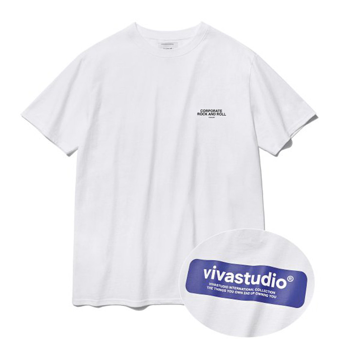 비바스튜디오 티셔츠 BOX LOGO SHORT SLEEVE IS [WHITE]