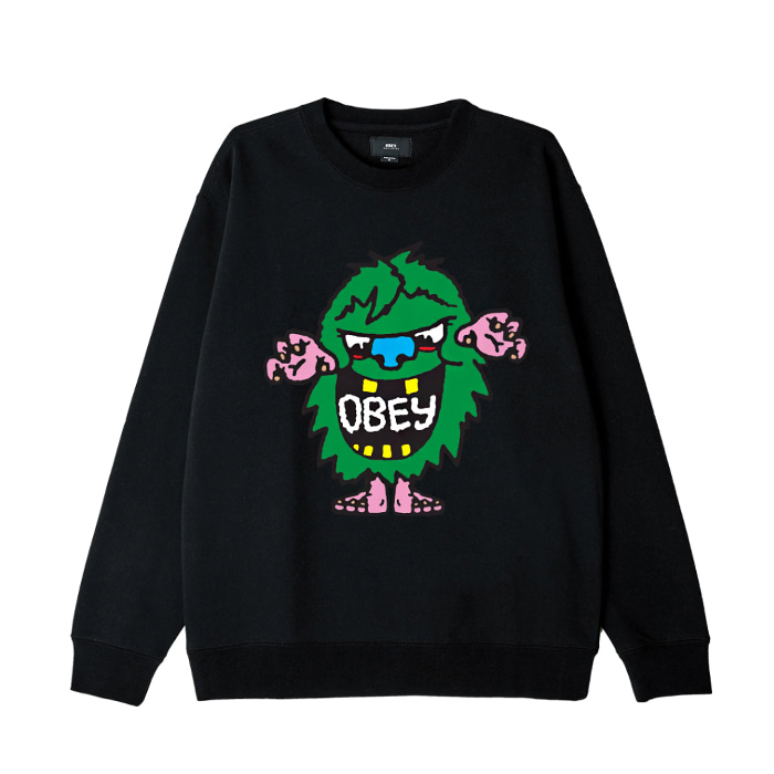 오베이 맨투맨 OBEY CREECH CREW / BLACK