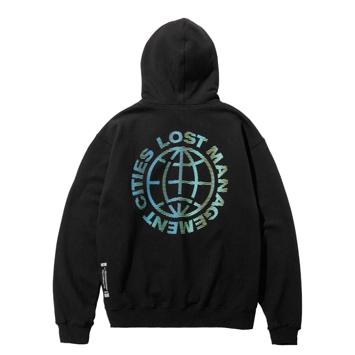 엘엠씨 후드 LMC WAVED WHEEL HOODIE black
