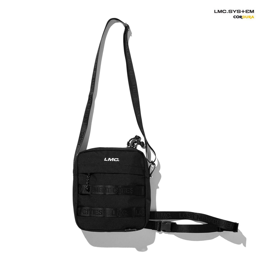 엘엠씨 숄더백 LMC SYSTEM MINI SHOULDER BAG black