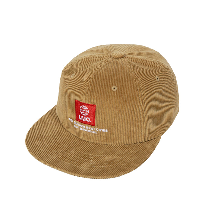 엘엠씨 모자 LMC GLOBE CORDUROY SKATER CAP yellow brown
