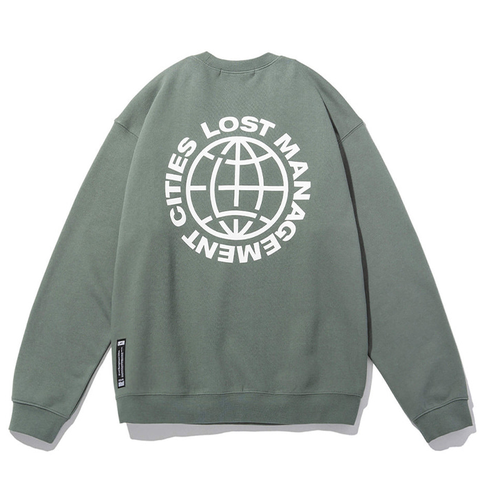 엘엠씨 맨투맨 LMC OG WHEEL SWEATSHIRT powder olive