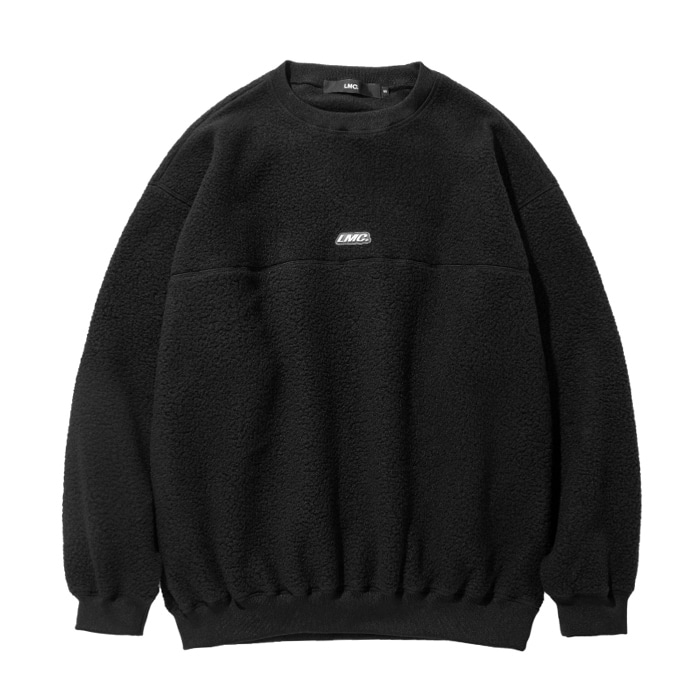 엘엠씨 맨투맨 LMC BOA FLEECE OVERSIZED SWEATSHIRT black