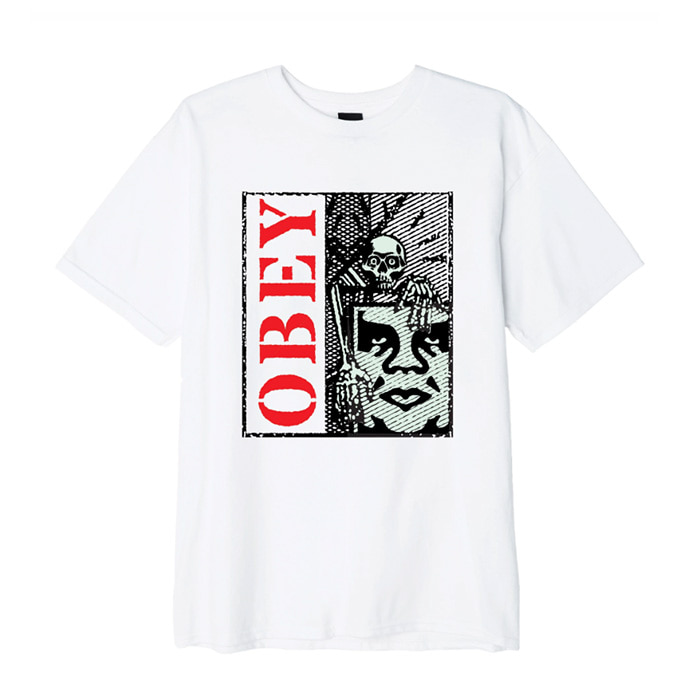 오베이 티셔츠 OBEY SKELETON TEES/WHITE