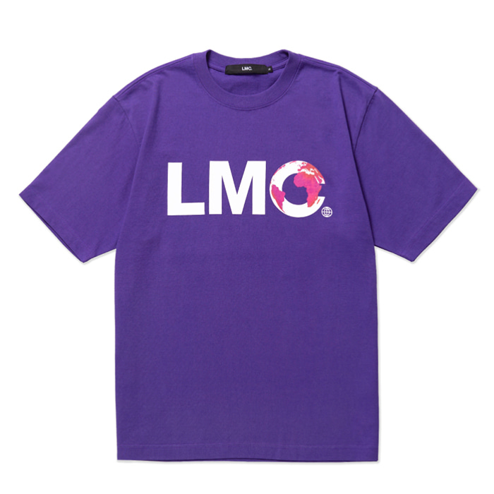 엘엠씨 티셔츠 LMC EARTH LOGO TEE purple