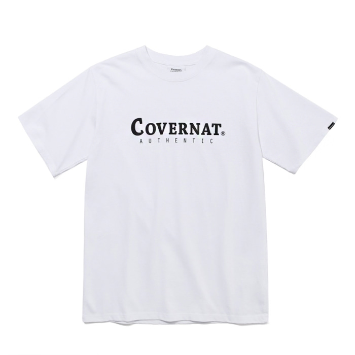 커버낫 티셔츠 S/S AUTHENTIC LOGO TEE WHITE