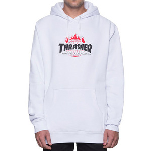 허프 트레셔 콜라보 후드 thrasher tour de stoops hood // white