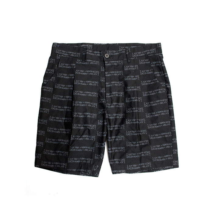 아임낫어휴먼비잉Basic Logo Pettern Shorts - Black