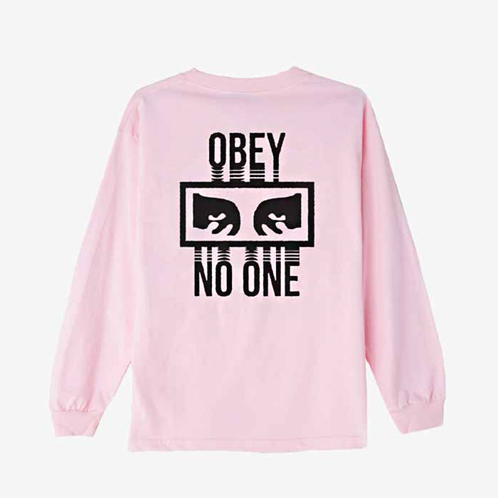 오베이  NO ONE BASIC L/S TEE // PINK