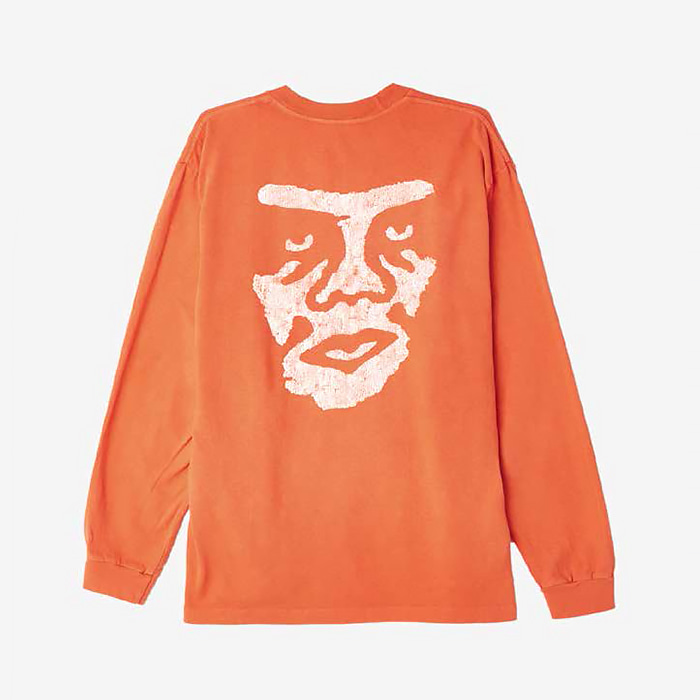 오베이 THE CREEPER PIGMENT L/S TEES // DUSTY ORANGE