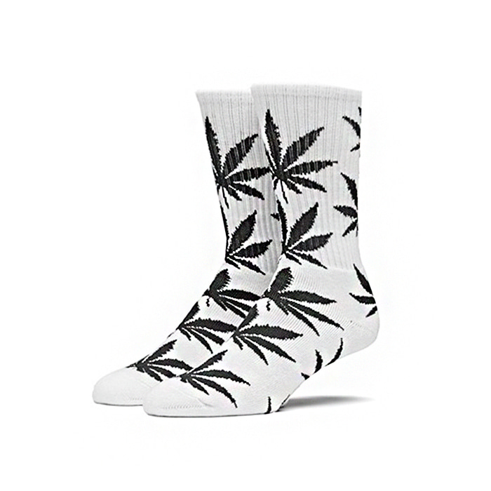 허프 PLANTLIFE CREW SOCKS  // WHITE/BLACK