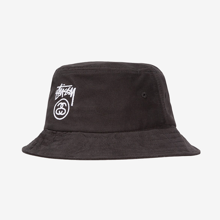 스투시 STOCK LOCK BUCKET HAT // BLACK