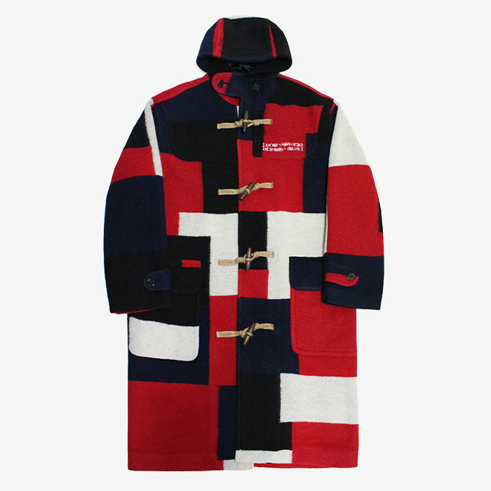 아임낫어휴먼비잉 Patch Work Duffle Coat // Multi Color
