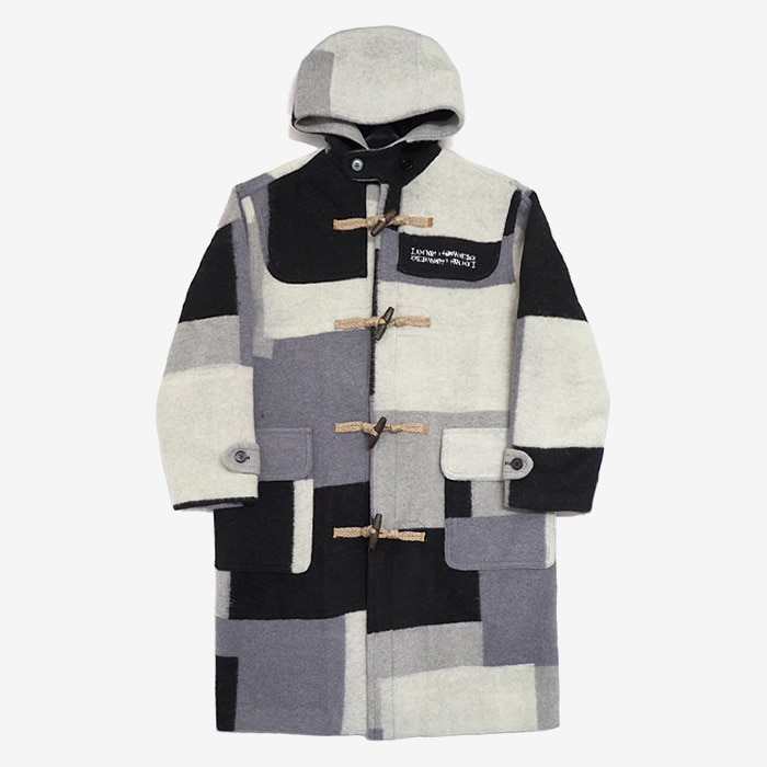 아임낫어휴먼비잉 Patch Work Duffle Coat // Achromatic Color