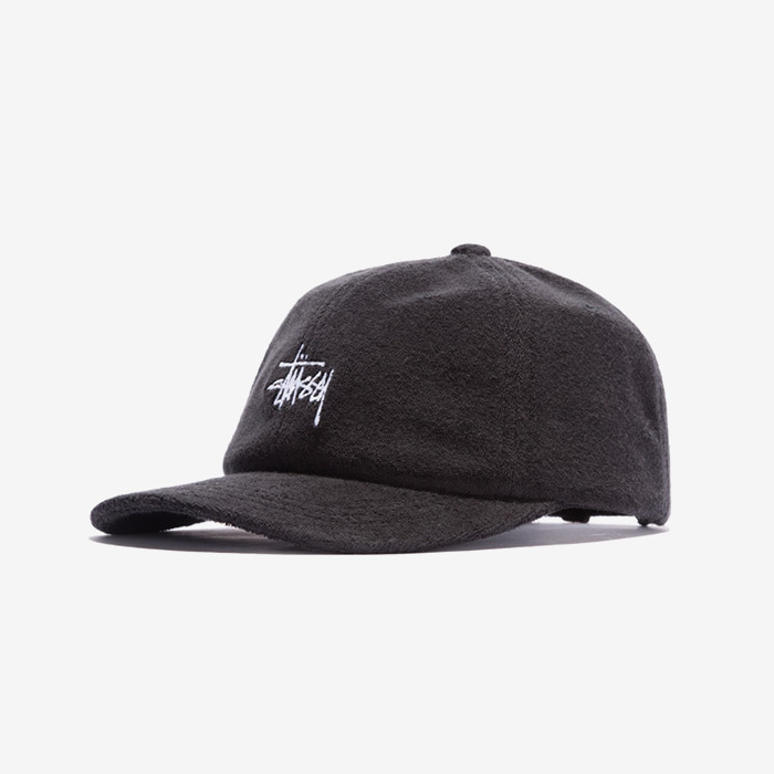 스투시 STOCK TERRY CLOTH LOW PRO CAP / BLACK