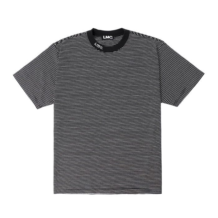 엘엠씨 LMC NECK LOGO STRIPE TEE/black