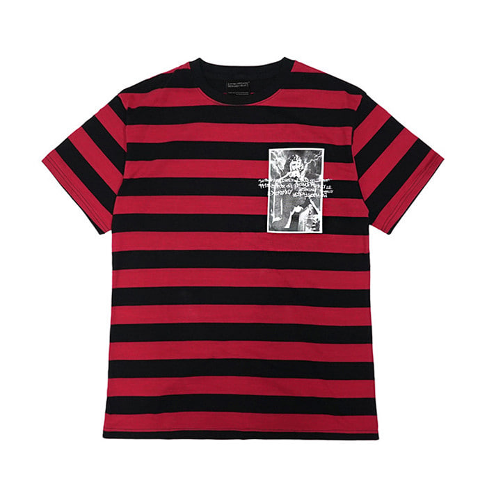아임낫어휴먼비잉 COLLAGE TOUR T-SHIRT//BLACK/RED