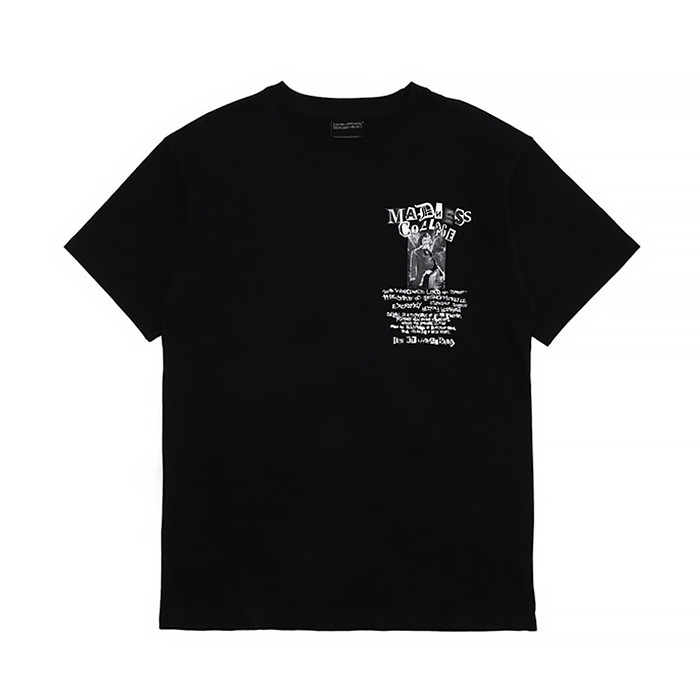 아임낫어휴먼빙 MADNESS BOWLING SHIRT/BLACK