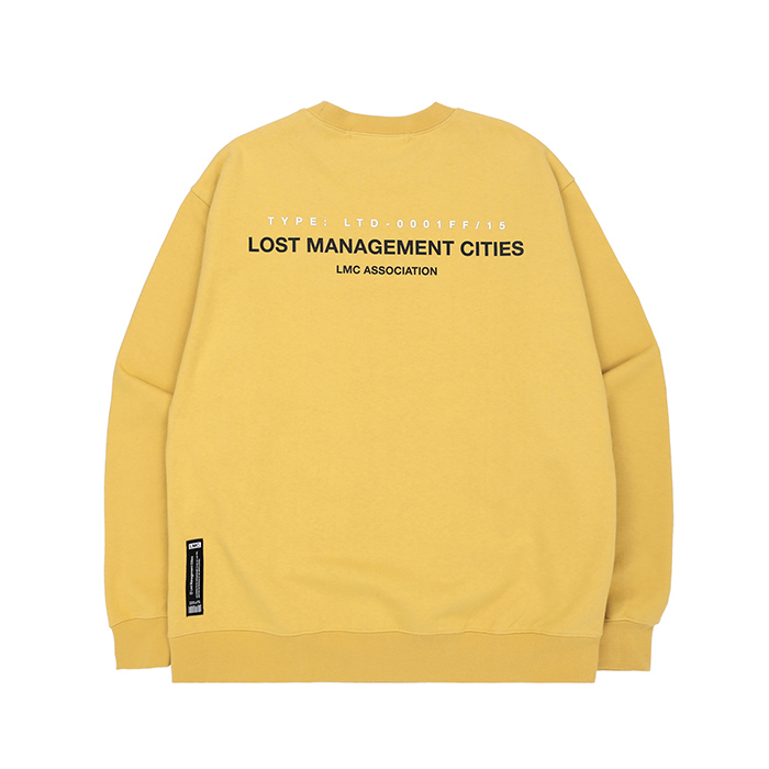 엘엠씨 맨투맨 LMC ASSOCIATION SWEATSHIRT/LEMON YELLOW