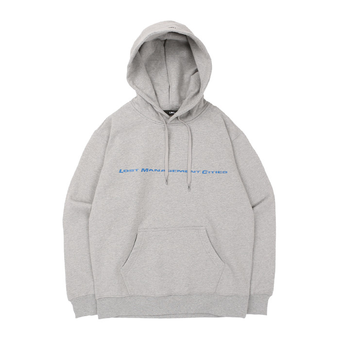 엘엠씨 후드티 LMC REFLECTIVE LINE HOODIE/HEATHER GRAY