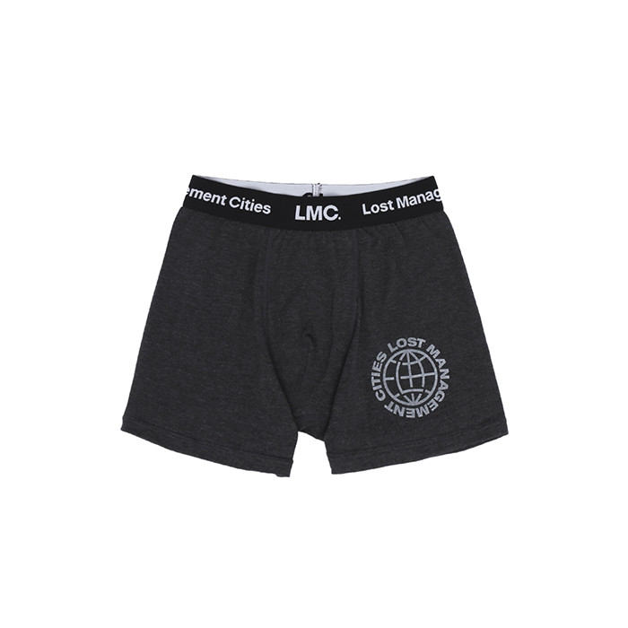 엘엠씨 LMC WHEEL LOGO BOXER BRIEFS/HEATHER GRAY