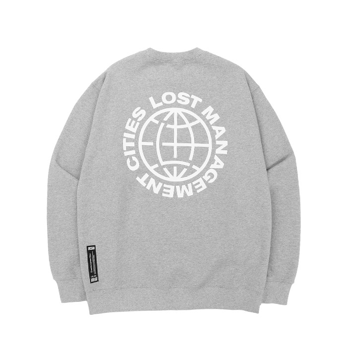 엘엠씨 맨투맨 LMC WHEEL LOGO SWEATSHIRT/HEATHER GRAY
