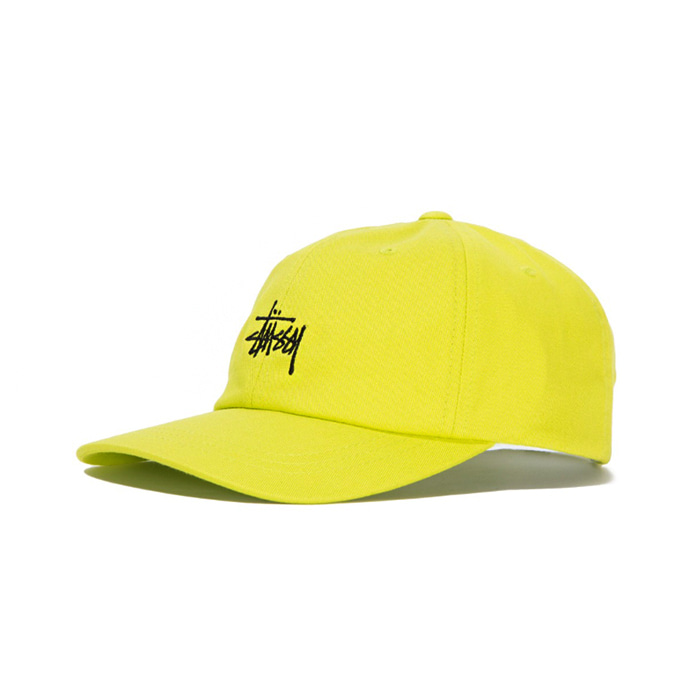 스투시 STOCK LOW PRO CAP/LIME_131835
