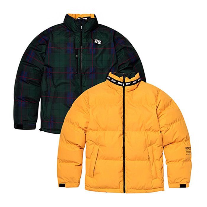 네스티킥 MAZE REVERSIBLE DOWN JACKET/YELLOW (NK18A002H)