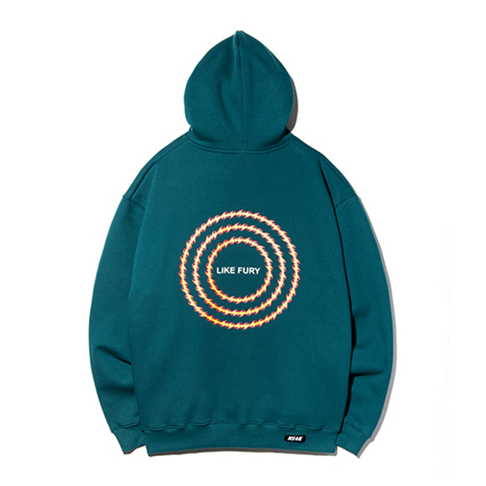 네스티킥 후드티 NSTK FLAME CIRCLE HOODIE/BLUE GREEN