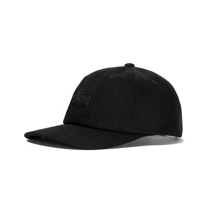 스투시 STOCK BIG TWILL LOW PRO CAP/BLACK_131833