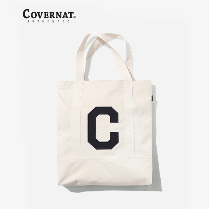 커버낫 C LOGO TOOL POCKET ECO BAG IVORY