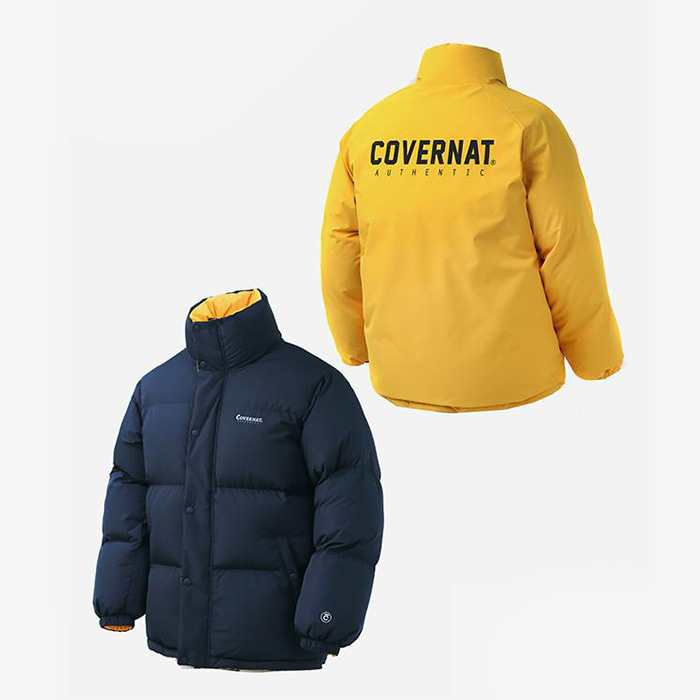 커버낫 REVERSIBLE DUCK DOWN PUFFER PARKA YELLOW
