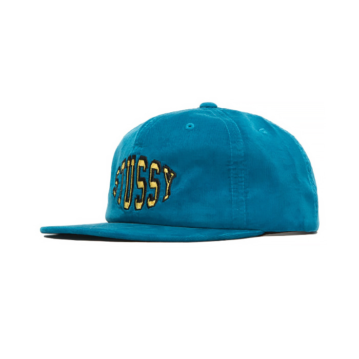 스투시 COLLEGE CORD CAP/BLUE