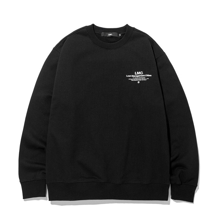 엘엠씨 맨투맨 LMC INFLUENCER SWEATSHIRT black (재입고)