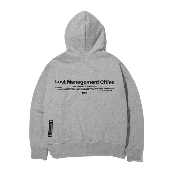 엘엠씨 후드집업 LMC OG LOGO ZIP-UP HOODIE heather gray(재입고)