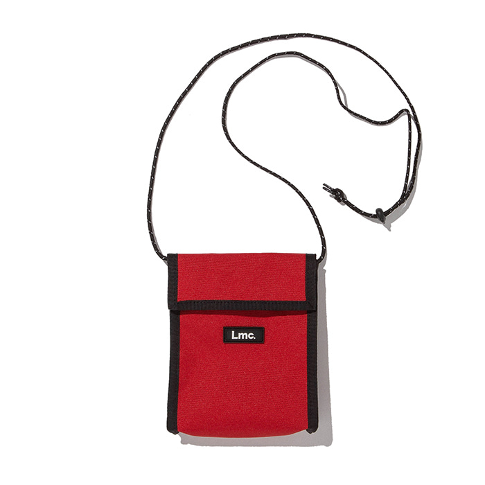 엘엠씨 파우치 LMC NECK POUCH BAG red