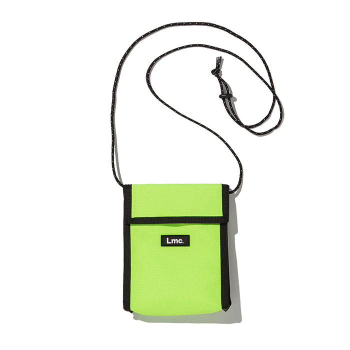 엘엠씨 파우치 LMC NECK POUCH BAG lime