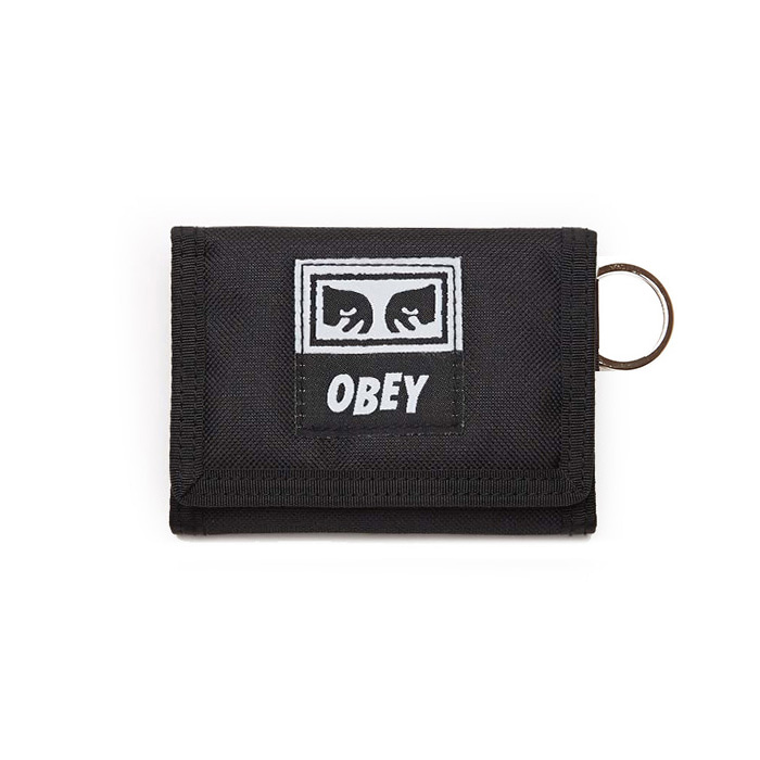 오베이 지갑 DROP OUT TRI FOLD WALLET/BLACK