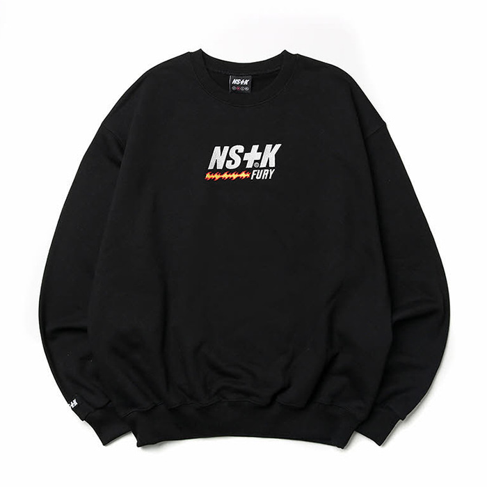 네스티킥 맨투맨 LIKE FURY V2 SWEATSHIRTS BLK (NK19S022H)