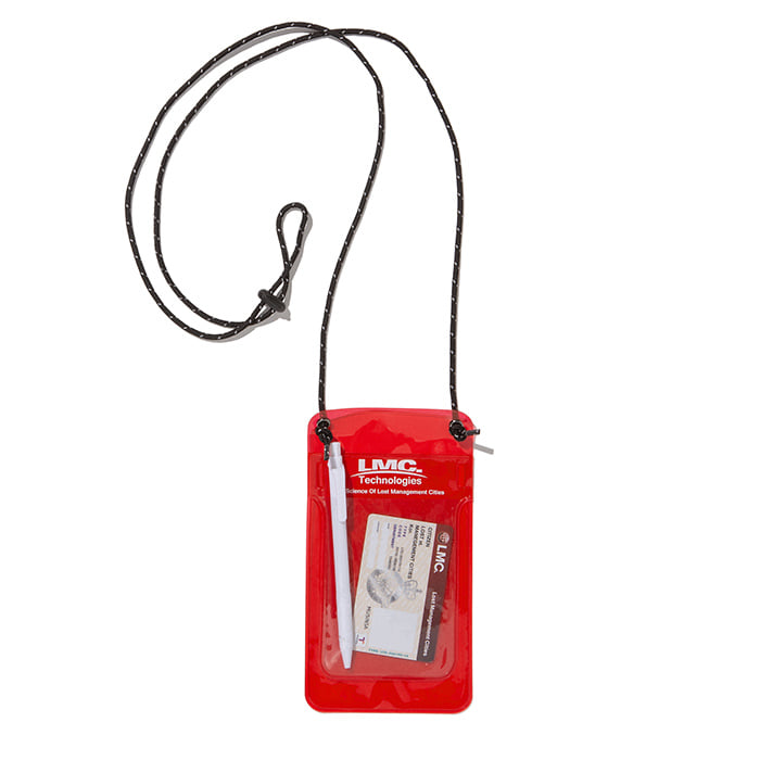 엘엠씨 파우치 LMC PVC POCKET PROTECTOR POUCH red