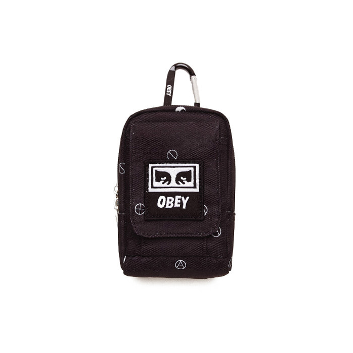 오베이 스몰백 DROP OUT UTILITY BAG/SYMBOL BLACK MULTI